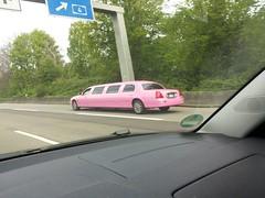 Princess on Tour / Barby Car auf der Autobahn (rainer.marx) Tags: pink car princess cologne autobahn kln stretch barby