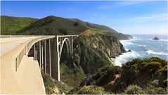 Bixby Creek Bridge (B.C.III Photography) Tags: ocean california travel bridge seascape nature creek canon landscape surf bigsur engineering roadtrip highway1 pacificocean carmel coastline dslr centralcoast bixby pacificcoasthighway