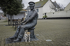 I Thought You Said He'd Make A Fuss Of Me?? - 52 Weeks For Dogs,16/52 (me'nthedogs) Tags: statue jrt somerset terrier snaps jackrussell 1652 watchet 52weeksfordogs