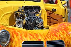Hotrod 1940 Willys (osubuckialum) Tags: show cars yellow nc flames extreme 1940 engine northcarolina raleigh chrome hotrod motor 40 annual custom carshow willys horsepower goodguys northcarolinastatefairgrounds northcarolinanationals