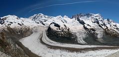 Gorner Glacier 2014 (tucker.ralph) Tags: sky panorama snow mountains alps switzerland glacier gornergrat castor breithorn liskamm