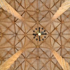 Ceiling, Llotja de la Seda, squared (Thomas Roland) Tags: old de la gothic silk style sala seda exchange lonja attraction brs llotja valencian contratacion silkebrsen