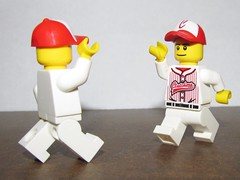 LEGO Clutchers players giving High Five (Pest15) Tags: lego baseball highfive players nationalhighfiveday legominifigures