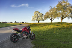 springride in the evening (rockymotard) Tags: monster switzerland ducati 1200s thurgau
