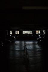 (ziemowit.maj) Tags: ef50mmf14 centrallondon urbanfragment reflectionsoncars canon5dmkiii backlitcars darkgaragewithbarredwindows glowonconcrete thamesbankgarge