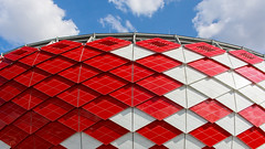 IMG_Red-White Rhombs (Nikolay19) Tags: world sky colors buildings football spring russia stadium moscow arena  tushino  spartak  championat      chempion