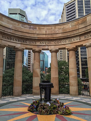 Lest We Forget - ANZAC Day (NettyA) Tags: city winter architecture buildings memorial australia brisbane qld queensland buildiings 2015 anzacsquare appleiphone6