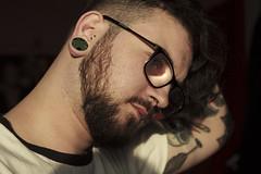 _MG_4827 (Kirsty_Rose) Tags: portrait canon beard naturallight tattoos portraiture alternative goldenlight stretchers canonphotography tattooedguy