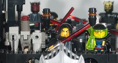 Red Eye Him Self (EliteGuard01) Tags: tower starwars lego ninja space pirates evil modular darth guns sciencefiction fortress sith darthmaul lightsabers playset trapdoor moc mercenary satalitedish asajjventress sithlords assassindroid scify redeyepirates crimsonelite