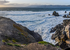 lands end inner cove panorama (pbo31) Tags: ocean sanfrancisco california sunset sky panorama color beach silhouette spring nikon ruins rocks surf view pacific earth cove tide over large panoramic landsend bayarea sutrobaths april westcoast stitched lincolnpark 2016 outerrichmond boury pbo31 d810