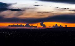 Manc Sunset (theGR0WLER) Tags: blue sunset sky blackandwhite orange cloud white black canon manchester grey lights blackwhite powershot hue canonpowershotsx50hs