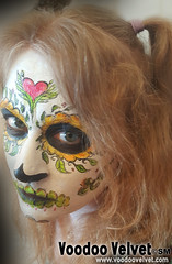 In the Sunlight of Death (voodoo-velvet) Tags: art love halloween face dayofthedead death skull scary paint ghost velvet sugar horror facepaint pinup voodoo voodoovelvet