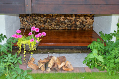 Log Store (rev-fx) Tags: wood plants grass garden woodwork wooden backyard logs storage deck decking varnish