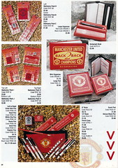 Manchester United - Official Merchandise Catalogue - 1994 - Page 34 (The Sky Strikers) Tags: old red classic manchester souvenirs official united fred merchandise 1994 collectors trafford catalogue the leisurewear