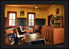 White Rock School - Museum (the Gallopping Geezer '4.8' million + views....) Tags: old school building museum mi rural canon student michigan interior country books structure historic teacher whiterock backroads smalltown geezer lessons corel 6d 2015 oneroom 1room whiterockschool