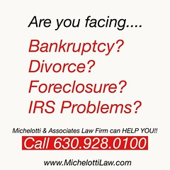 We offer our clients expert legal advice on Bankruptcy, Divorce, Estate Planning, Foreclosure, Asset Protection and IRS Problems. ******************************* #MichelottiLawFirm #JosephMichelotti #attorney #ChicagoAttorney #Chicagolawfirm #lawyers #chi (Michelotti and Associates, Ltd) Tags: chicago illinois divorce kanecounty lawyers attorney cookcounty lakecounty bankruptcy dupagecounty estateplanning willcounty assetprotection irsproblems chicagoattorney foreclosuredefense chicagolawfirm estateplanningchicago josephmichelotti michelottilawfirm