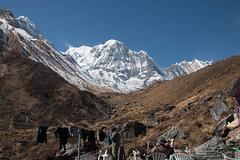 Finally we wash (Pooja Pant) Tags: nepal mountains beautiful trek abc annapurna annapurnabasecamp macchapuchre