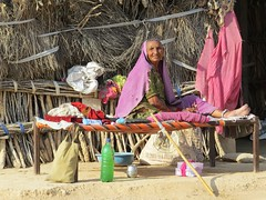 villagescene (gerben more) Tags: people woman india village hut rajasthan