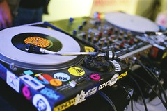 Let's the music play! (Analog World Thru My Lenses) Tags: music vintage factory soho vinyl mixer epson v800 rikenon50mmf14 ricohxr7 epsonv800 fujifilmsuperiaxtra400exp