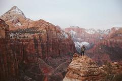 Zion Canyon Overlook (kylesipple) Tags: winter red portrait southwest rock landscape utah zion zionnationalpark redrock vsco campvibes