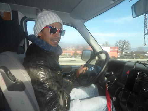 José, en mode roadtrippin'