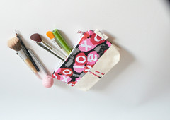 Personalized Make up Bag - Canvas Cosmetic Bag - Monogrammed Make up Bag - Jewelry Purse - Thank You Gift (TrampLeeDesigns) Tags: ladies girls love beautiful bag women handmade wallet womens fabric handcrafted accessories bags handbags etsy handbag wallets etsyshop