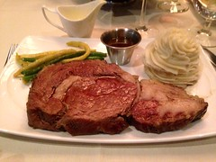 Prime Rib Dinner (rabidscottsman) Tags: food cooking minnesota dinner geotagged beef casino meat meal friday geotag mn culinary thick day36 steakhouse 5c primerib iphone foodblog foodphotography aujus scotthendersonphotography carltonminnesota blackbearcasino