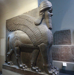 British Museum, winged human-headed lion (AnthonyR2010) Tags: sculpture london museum lion bloomsbury britishmuseum assyria nimrud