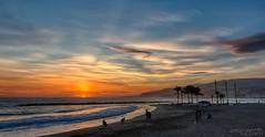 Atardecer en la playa del Zapillo (cristianvilchez) Tags: azul canon atardecer mar andaluca playa andalucia tokina cielo nubes naranja almeria almera orilla 1116 70d zapillo 1116mm