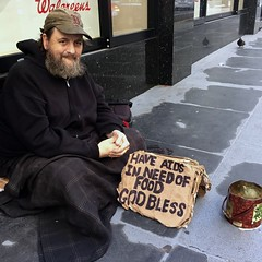 AIDS patient (vhines200) Tags: sanfrancisco sign homeless panhandler 2016