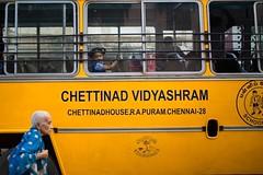 At Triplicane (Akilan T) Tags: india kid child grandmother schoolbus chennai tamilnadu cwc schoolkid triplicane chennaiweekendclickers cwc508