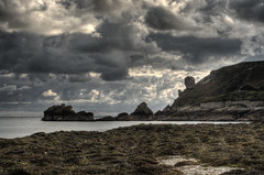 Hanging Rock, Alderney (neilalderney123) Tags: cloud storm landscape olympus alderney omd hangingrock longis neilhoward