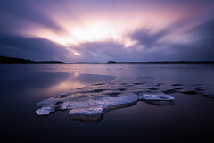 Melting (Arvid Bjrkqvist) Tags: longexposure winter lake cold ice water still melting sweden freezing calm melt tranquil vanderydsvattnet