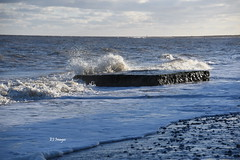The Old Pillbox (EJ Images) Tags: uk sea england slr beach water coast suffolk sand nikon shingle shoreline wave coastal shore d750 dslr eastanglia breakingwave pillbox lowestoft breakingwaves 2016 nikonslr nikondslr pakefield suffolkcoast suffolkcoastal lowestoftbeach pakefieldbeach 24120mmlens dsc4361c ejimages nikond750