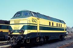 6042  Ath  07.07.84 (w. + h. brutzer) Tags: analog train nikon eisenbahn railway zug trains locomotive 60 ath belgien lokomotive diesellok eisenbahnen sncb dieselloks webru