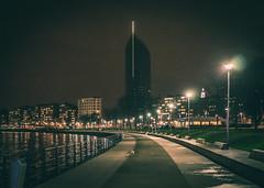 Finance Tower - Lige (Falcdragon) Tags: city tower architecture night river de belgium 55mm maas liege tone meuse lige ilce7 sonya7alpha sonyzeisssonnarfe1855mza sonyzeisssonnarfe1855mmza