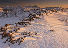 Winter Dusk - Scafell Massif from Hindscarth Ridge (Explored) (sunstormphotography.com) Tags: winter sunset snow landscape rocks dusk lakedistrict ridge cumbria scafell scafellpike newlands lakedistrictnationalpark greatgable newlandsvalley greatend polarisingfilter canon24105l ndgradfilter canon5dmark3 newlandshorsehoe hindsgarth
