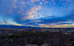 Sunset over Plovdiv, view from Mladeshki halm (dontgiveacake) Tags: sunset panorama colors beatiful plovdiv tepe