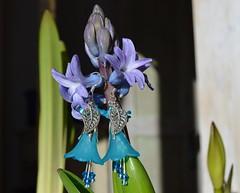 DSC_0810-1 (Chaumurky) Tags: blue fairytale jewelry bijoux fairy tulip earrings jewelery hyacinth fairyjewelry elfjewelry elfearrings