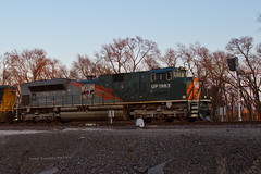 WP and MoPac Dwarf at Airport (tim_1522) Tags: railroad heritage illinois pacific sub union grain rail il chester signals western 1983 subdivision emd railfanning sd70m sd70ace