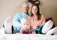 Family Shoot for the 6 month old (BrettAnderson_) Tags: family baby 6 art love feet girl smile minnesota socks canon mom photography 50mm bedroom dad mark iii 14 daughter cities lifestyle twin sigma indoor 5d months mn