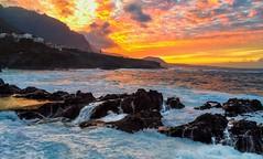 Rocking sunset (suspiciously conspicuous) Tags: ocean sunset sea sky seascape water colors clouds landscape evening spain rocks europe canarias atlantic tenerife es garachico
