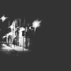 Fotografa (ANDRESOR) Tags: chile street santiago light shadow moon white black building art blanco luz night square noche photo calle foto arte y negro edificio sombra squareformat soledad fotografa monocromatico photografic iphoneography instagramapp uploaded:by=instagram foursquare:venue=501bc51ce4b042667612ad93