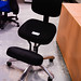 Black ortho swivel chair