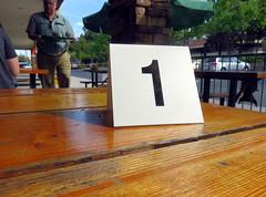 Number One Customer (LeftCoastKenny) Tags: fence table restaurant tag text utata thursdaywalk utata:project=tw514