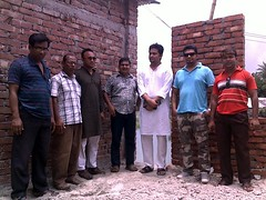 Visiting kumarkhali press club during construction