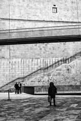 Walkway Angles (Mark L Edwards) Tags: bw white black malta walkways businessmen valetta