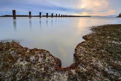 Wooden-Pillars (erwin.delfin_photography) Tags: sunset reflections landscapes lowtide pillars oldpier woodenpillars