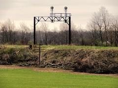 Trees have been cleared from old E-L signal bridge near Laketon (Matt Ditton) Tags: abandoned erie lackawanna laketon