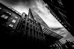 Cheese Grater Building, London, United Kingdom (Syed Ali Warda) Tags: uk sky blackandwhite london skyline architecture clouds landscape landscapes amazing flickr cityscape artistic dramatic kingdom architectural darkclouds tallbuilding centrallondon cheesegrater greatphotographers londoncentral flickraward giantbuilding canon7d syedaliwarda